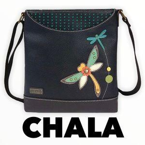 Chala dragonfly messenger bag black/brown/multi